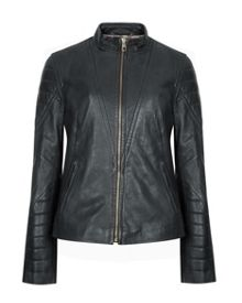 Elsha quilted arm leather jacket