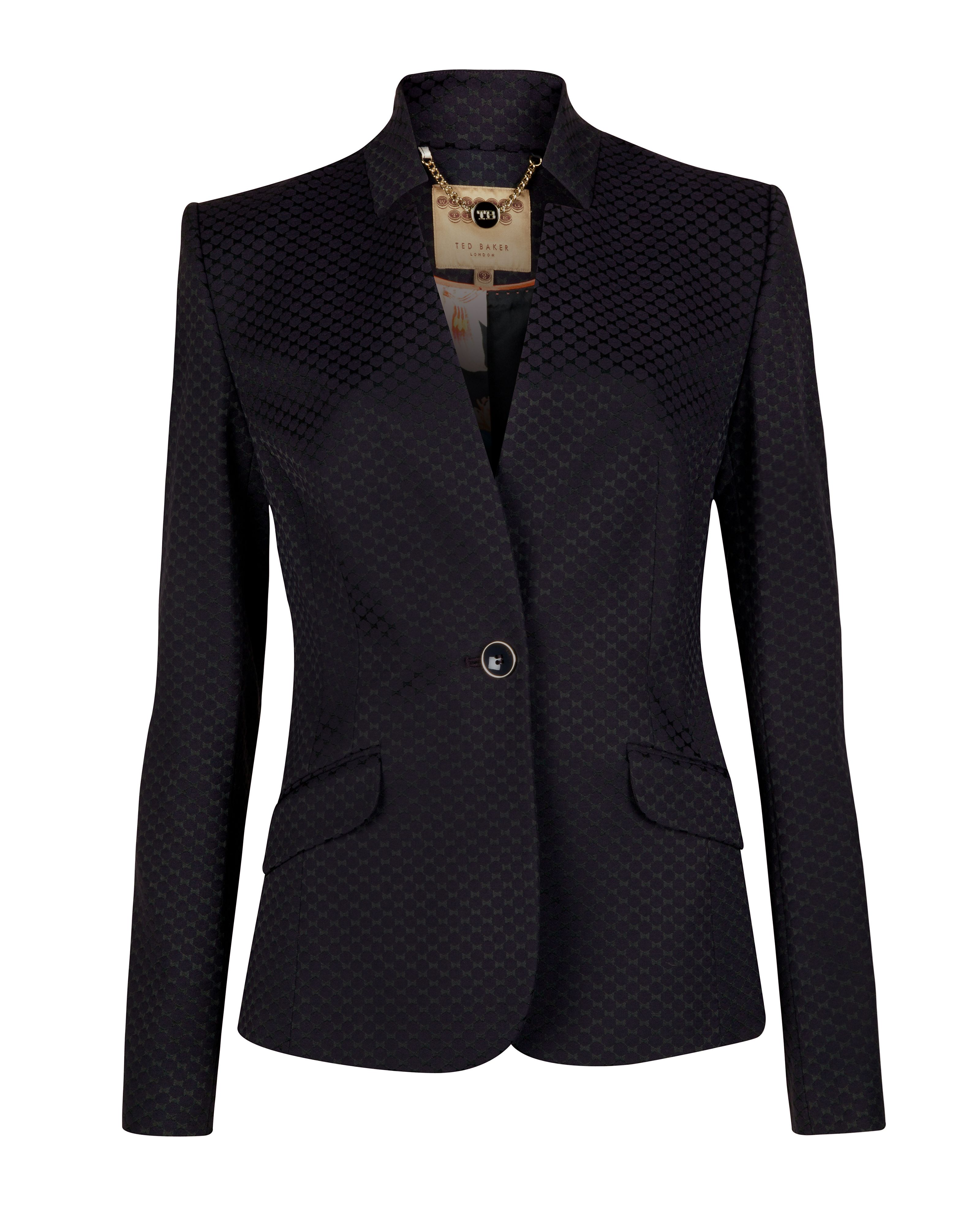 Daseaj diamond jacquard jacket