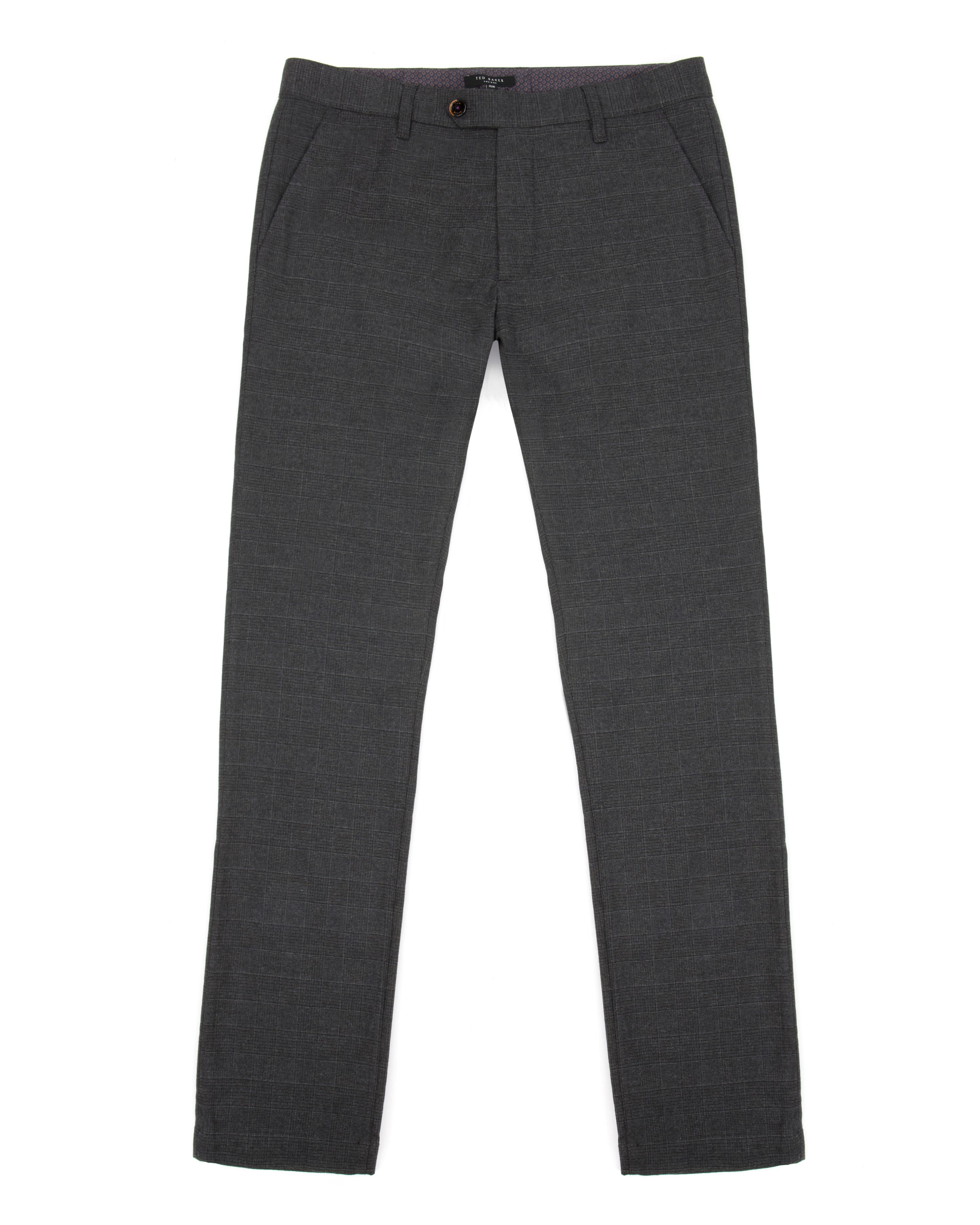 Sanslim slim fit brushed cotton trousers