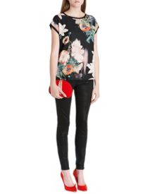 Debrah opulent bloom print woven top