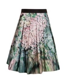 Ovald glitch floral full skirt