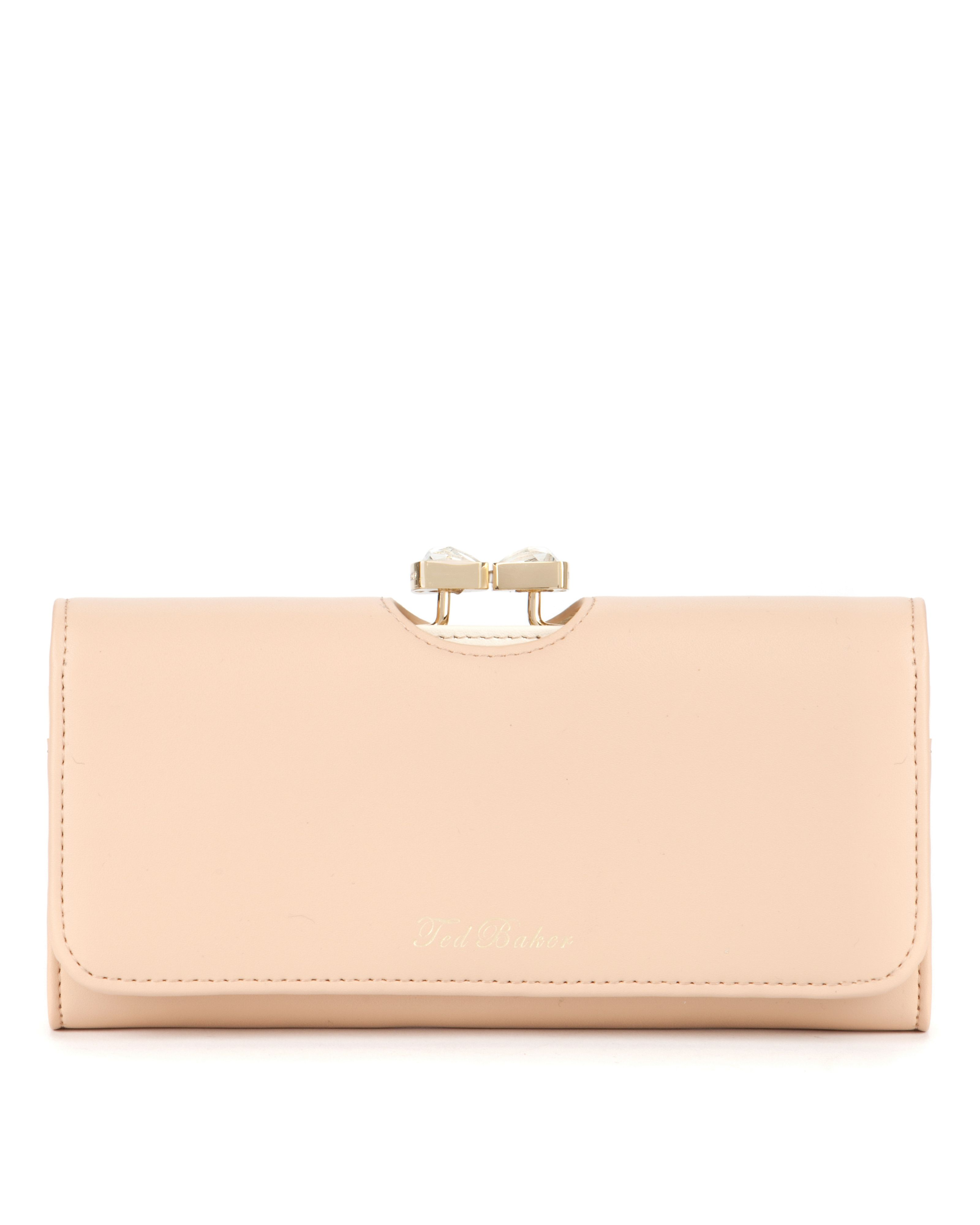 Caleena Bow leather matinee purse
