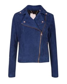 Sapley suede leather biker jacket