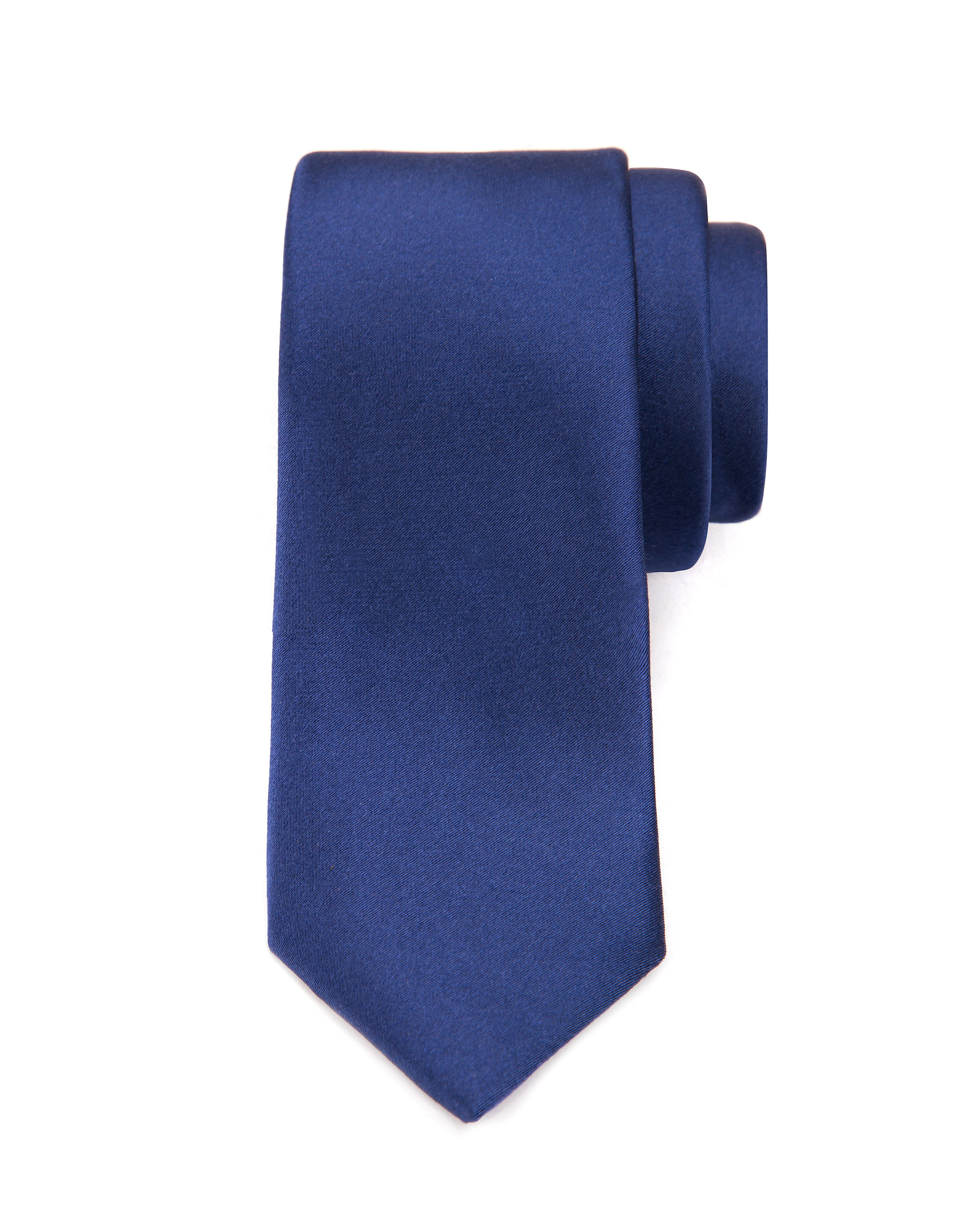 Cloked classic satin skinny tie