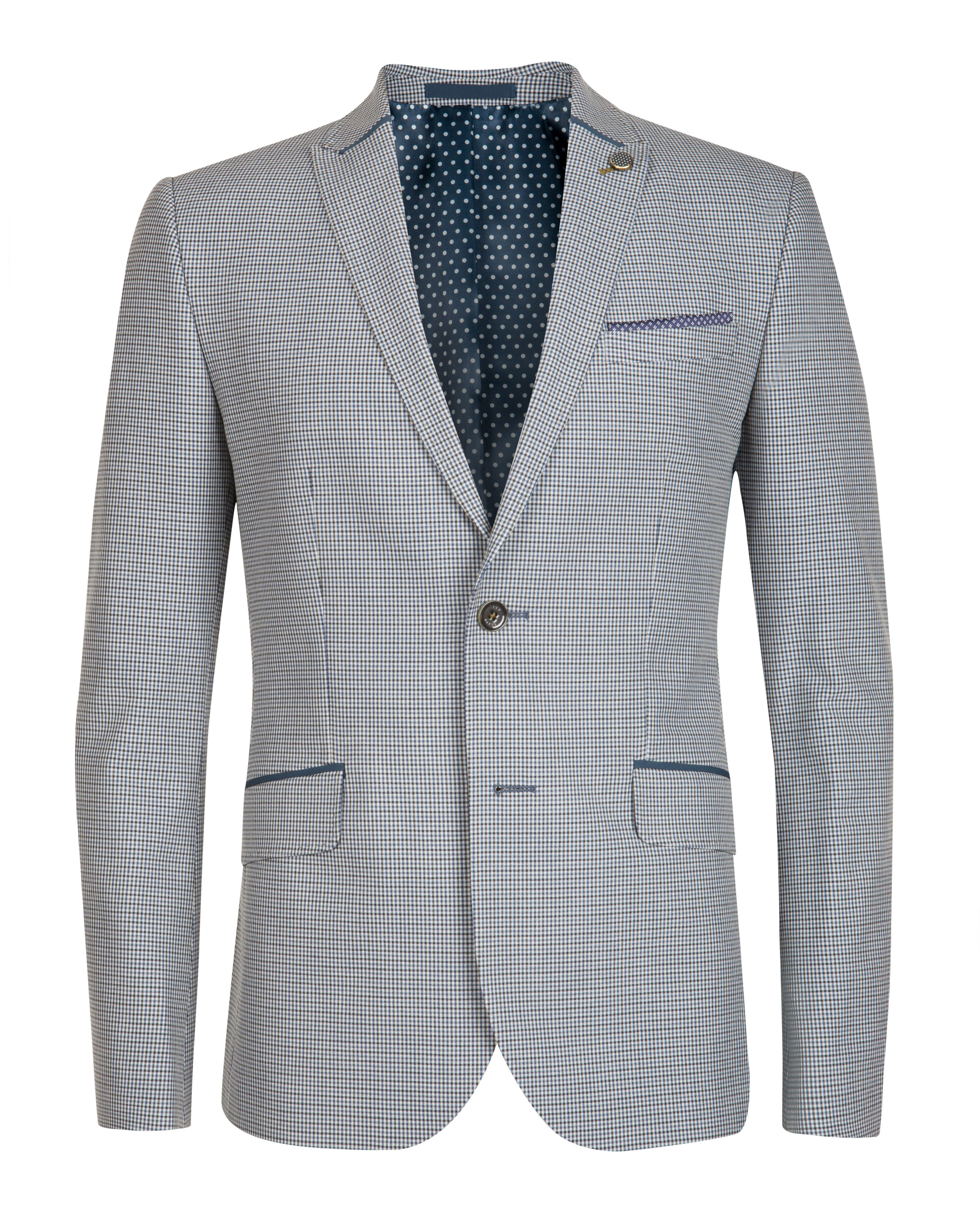 Chivel check peak lapel blazer