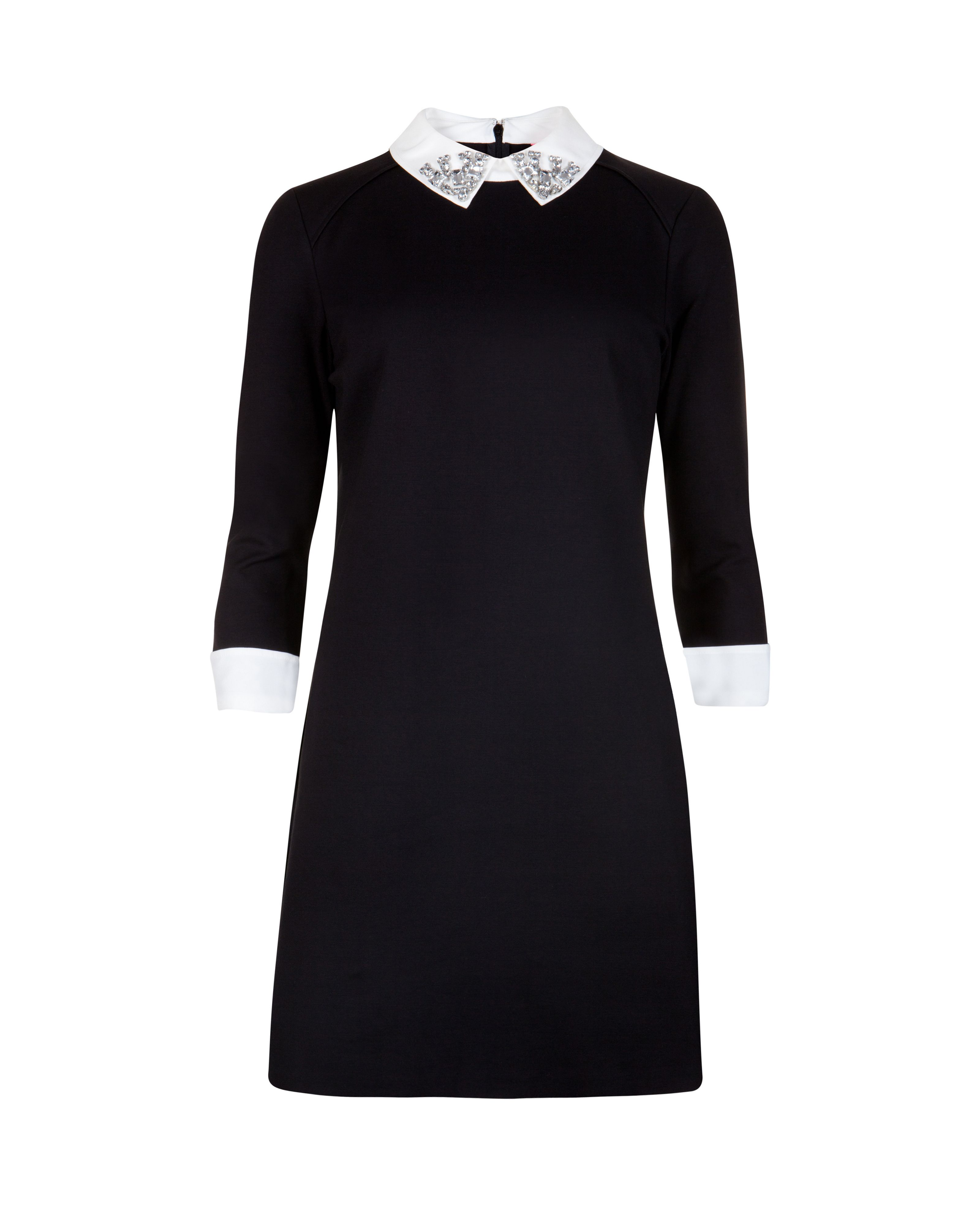 Eelah embellished collar dress