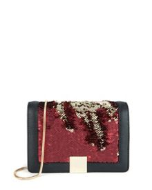 Sequina Sequin detail clutch bag
