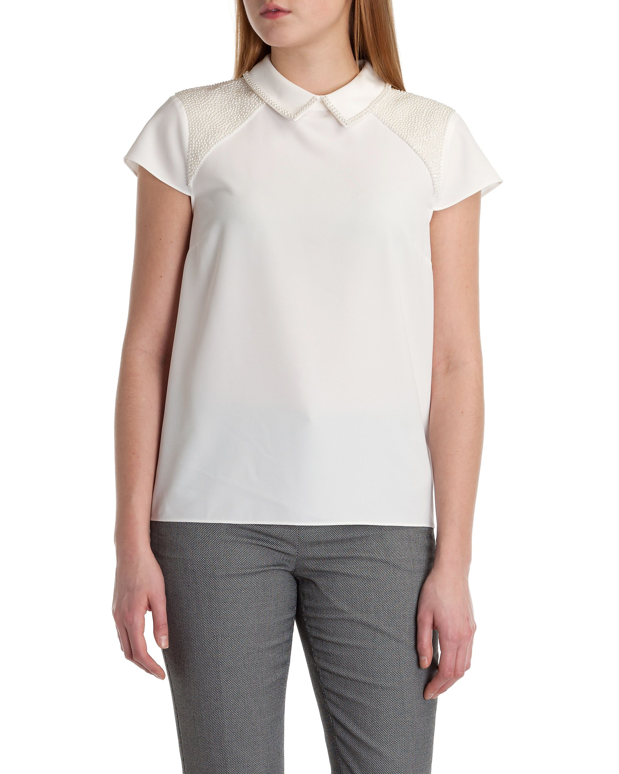 Osster pearl embellished top