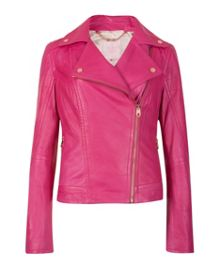 Ippal leather biker jacket