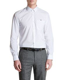 Hexwiz Hexagonal Print Classic Fit Shirt