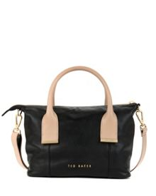 Amelia leather mini tote bag