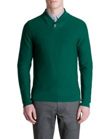 Pintopp Plain Shawl Neck Pull Over Jumper