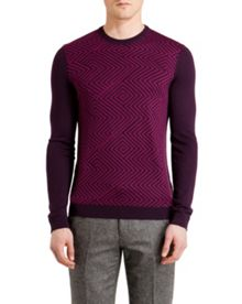 Ziggo Pattern Crew Neck Sweatshirt