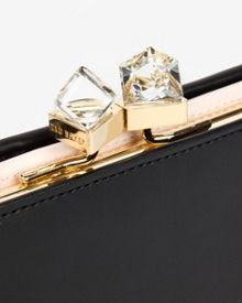 Elly Small square crystal purse