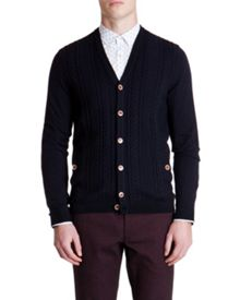 Exford Plain Cable Knit Cardigan