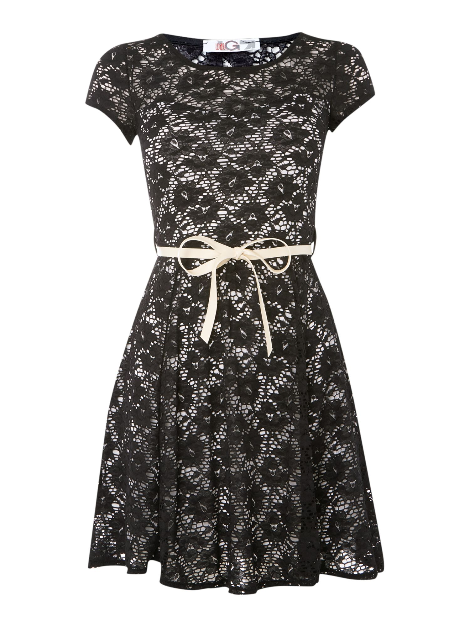 Lace Cap Sleeve Dress
