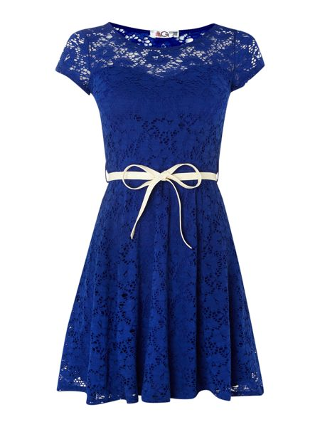 Wal-G Lace Cap Sleeve Dress