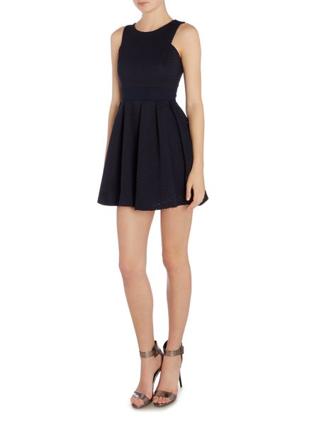 Wal-G Sleeveless Round Neck Fit & Flare Dress