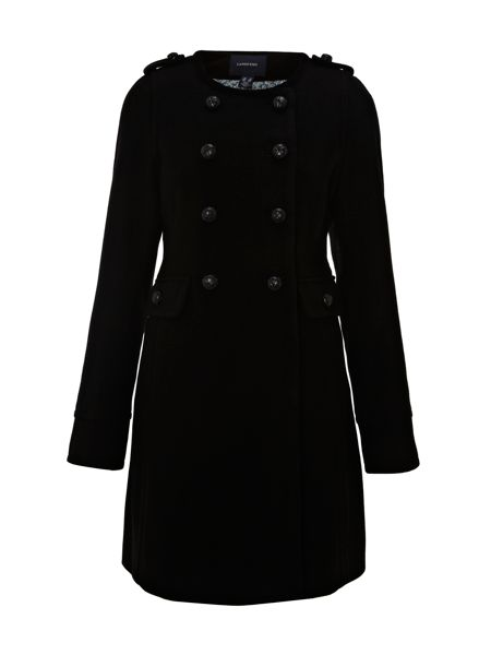 Lands' End Women`s regular luxe wool collarless coat