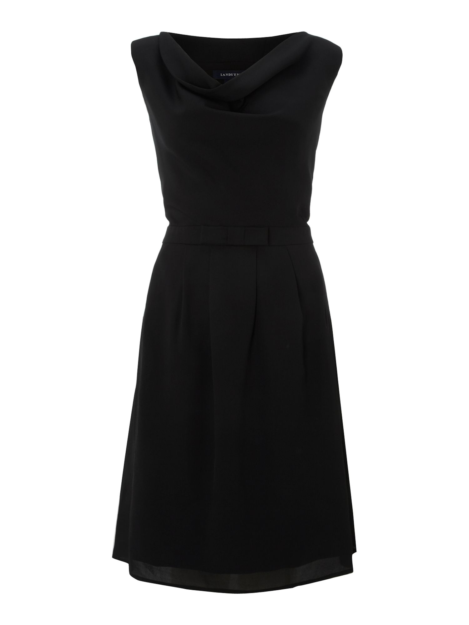 Women`s sleeveless bow dress