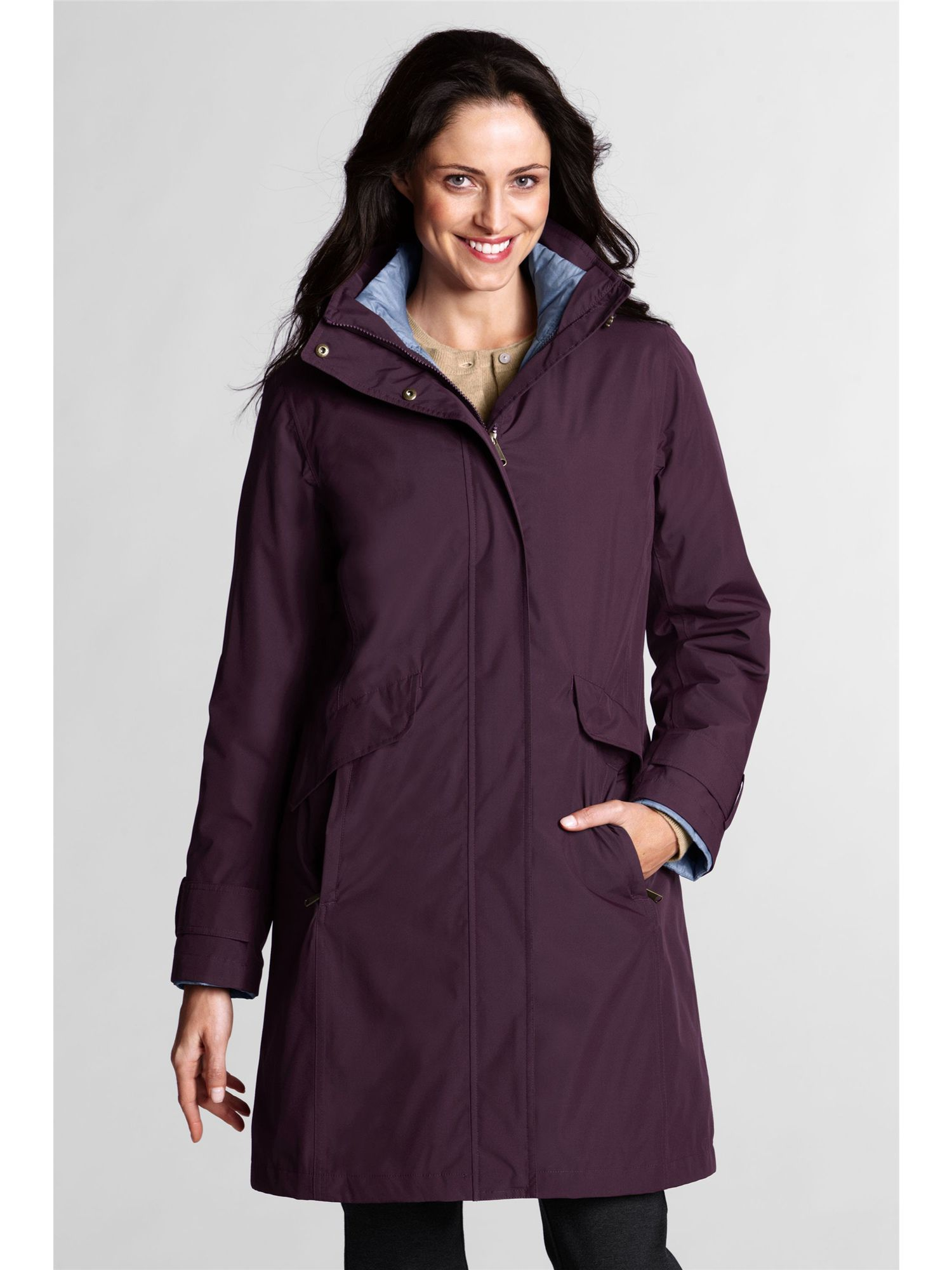 Women`s regular down 3-in-1 commuter coat