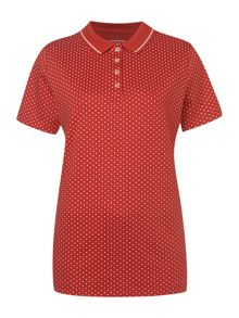 Short sleeved tipped pima polo