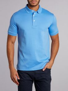 Lands' End Short sleeved tailored fit supima polo