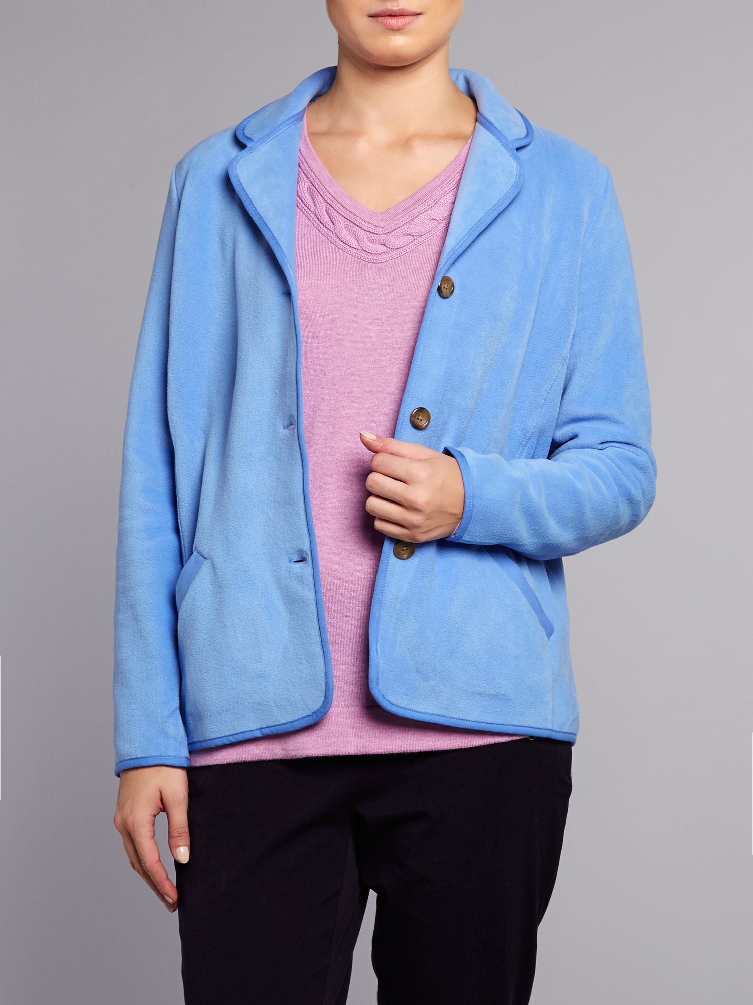 Stretch fleece jacket