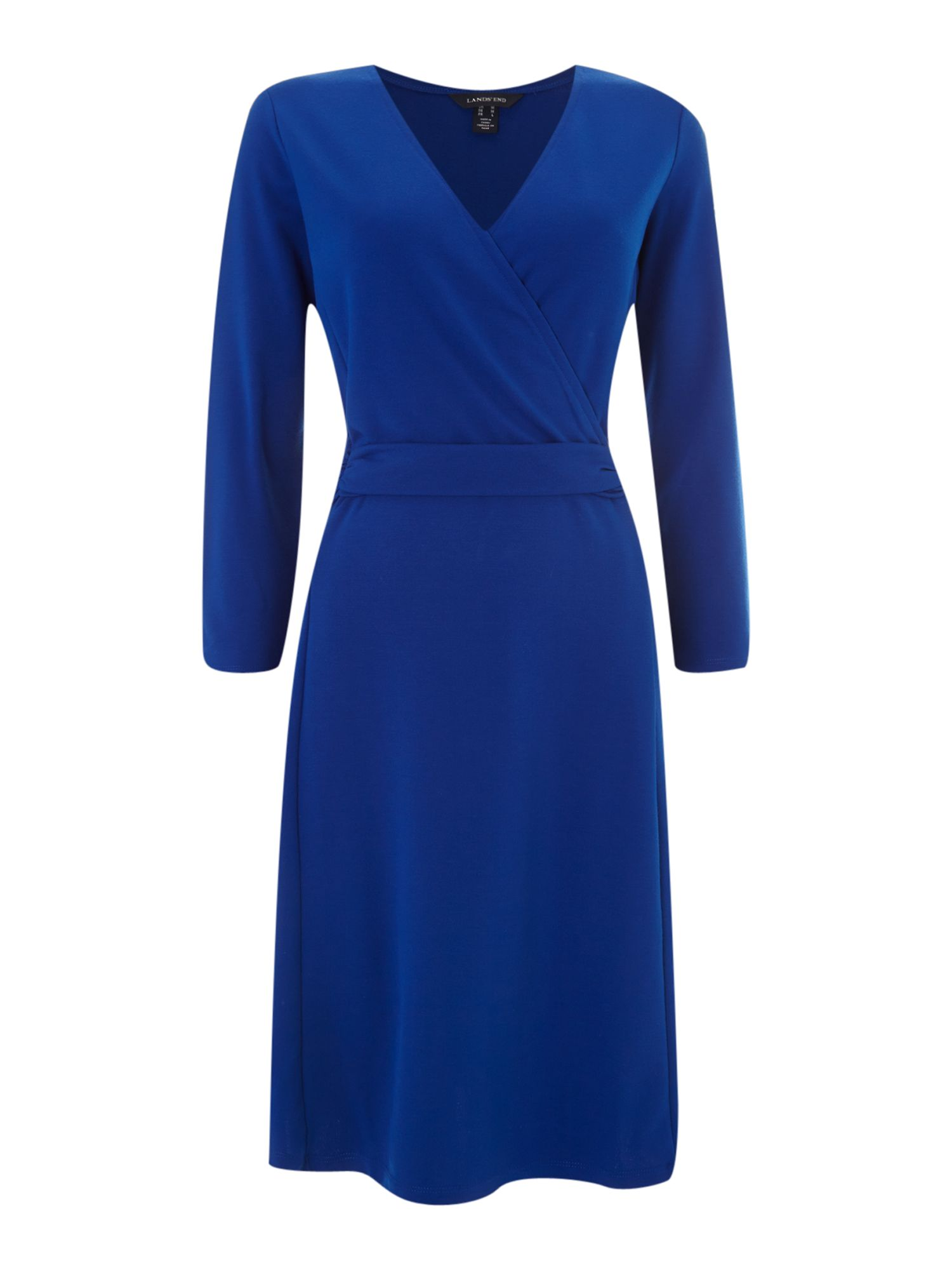 Ponte faux wrap dress