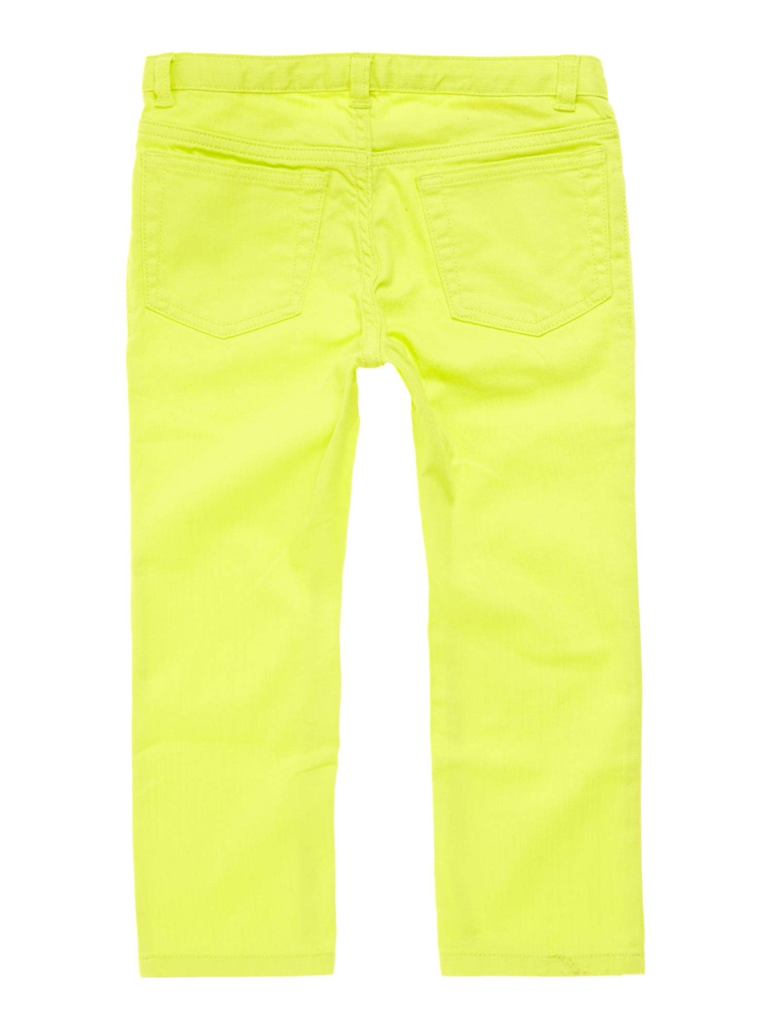 Girls Coloured Denim Five-pocket Capris