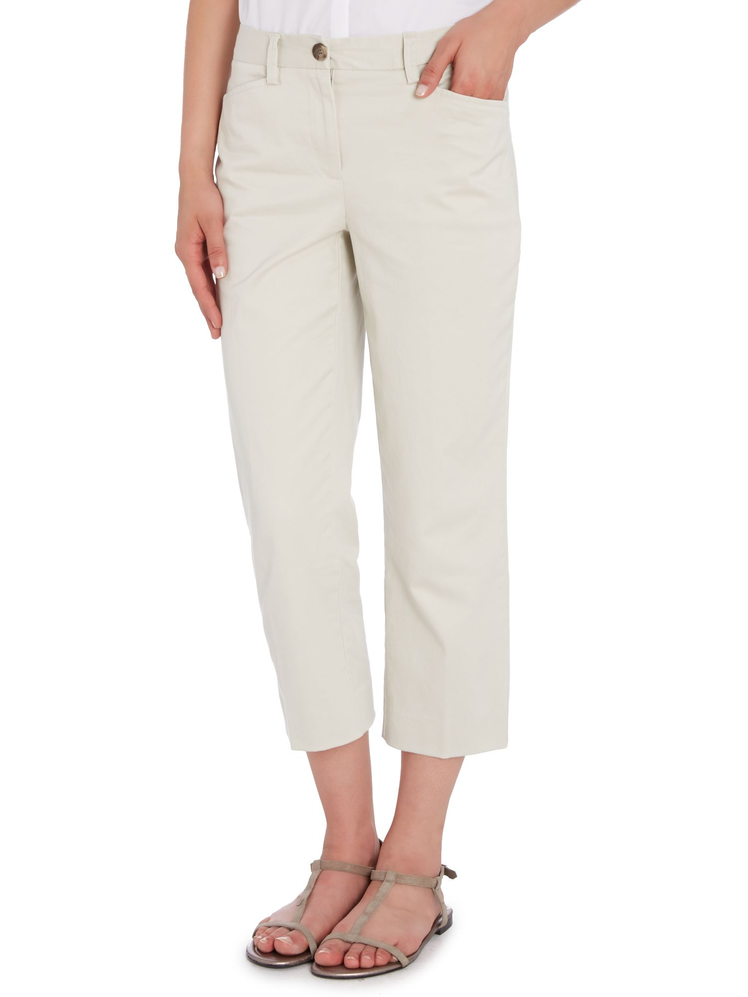 Plain crop chinos