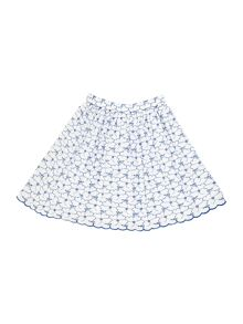 Girls Broderie Anglais Twirl Skirt