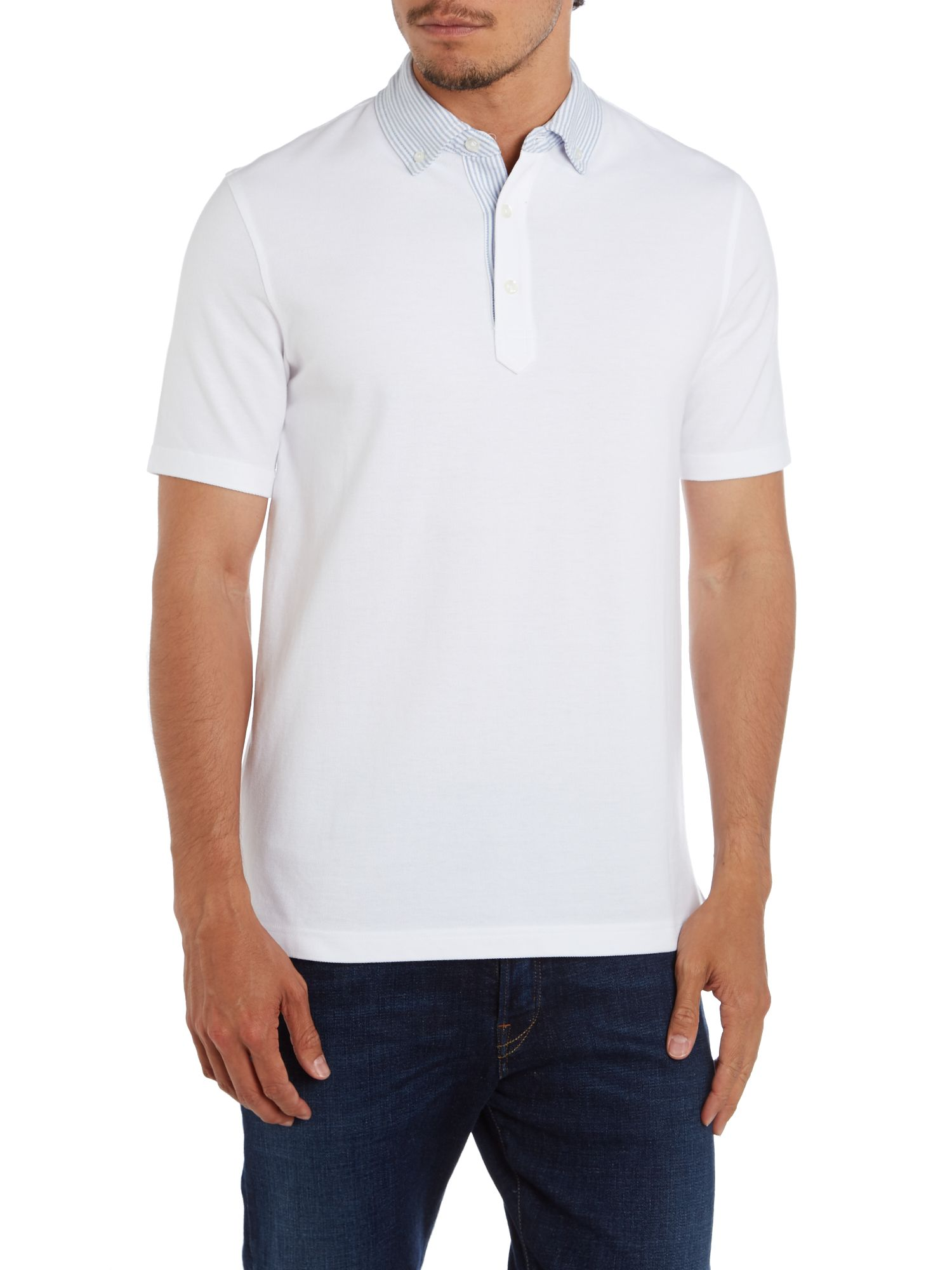 Oxford collar polo shirt