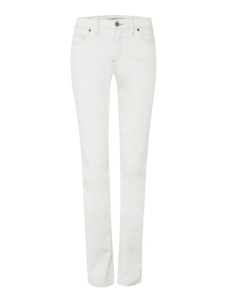 Lands' End Mid Rise Straight Leg Jeans