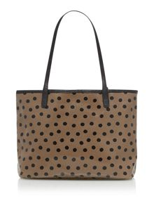 Print Coated Canvas Small Shopper