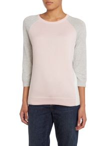Supima Raglan Sleeve Colourblock Jumper