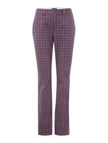Mid Rise Straight Leg Patterned Chinos