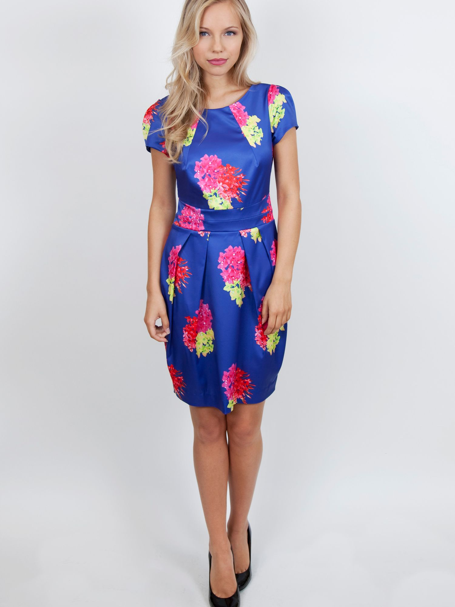 Electric neon floral dress