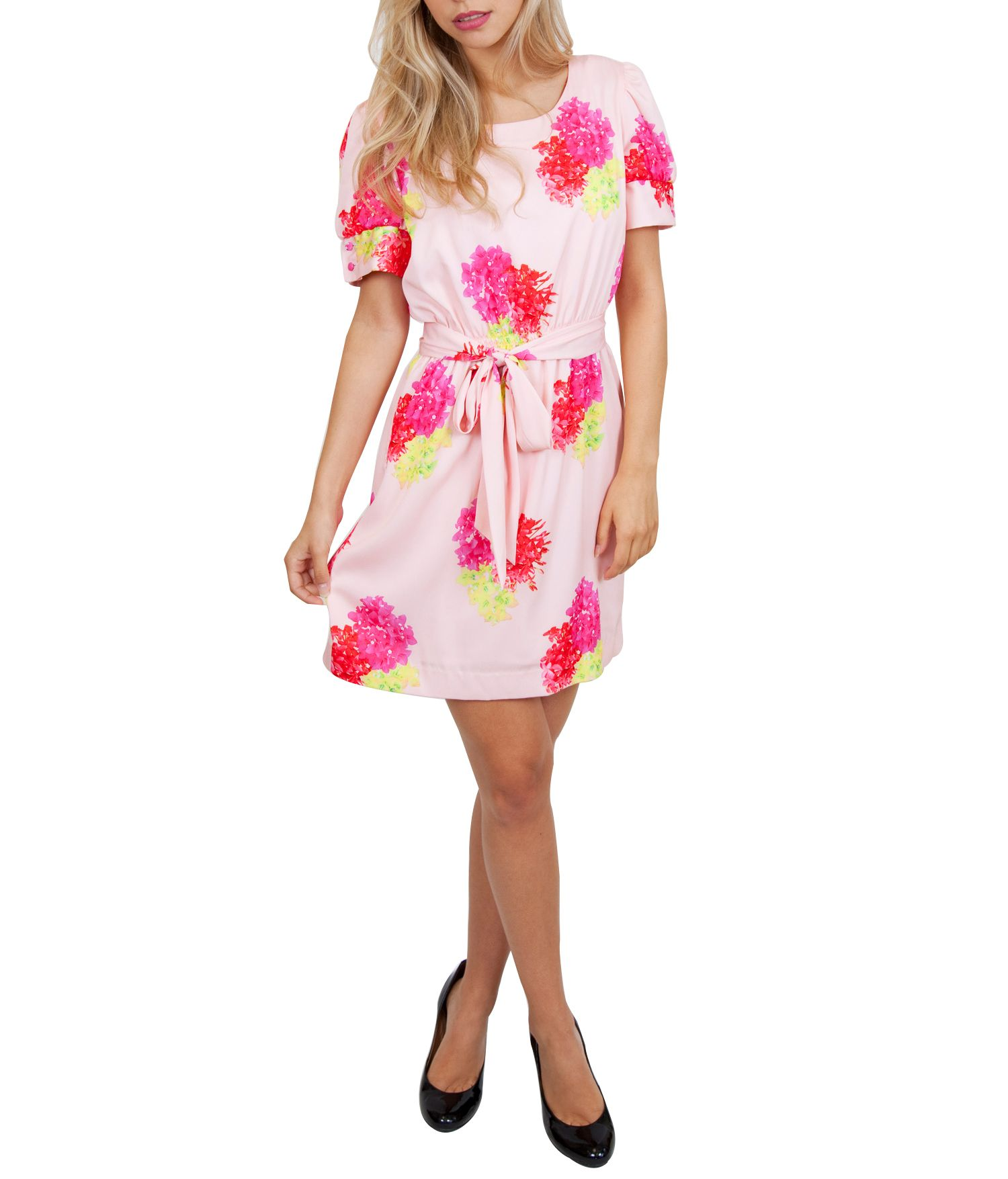 Tropical neon floral dress