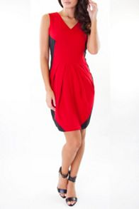 Black and red fitted dress
