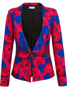 Red and Navy floral blazer