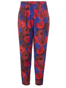 Wolf & Whistle Red and Navy floral trousers