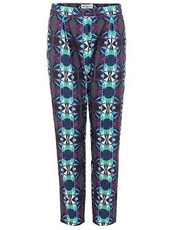 Geo print loose fit trousers