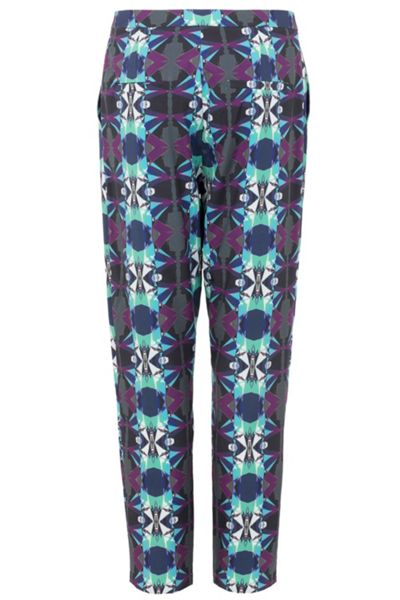 Wolf & Whistle Geo print loose fit trousers