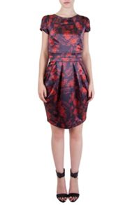 Stork and floral tailored dress