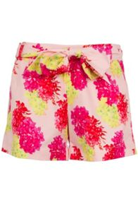 Tropical Floral Tailored Shorts