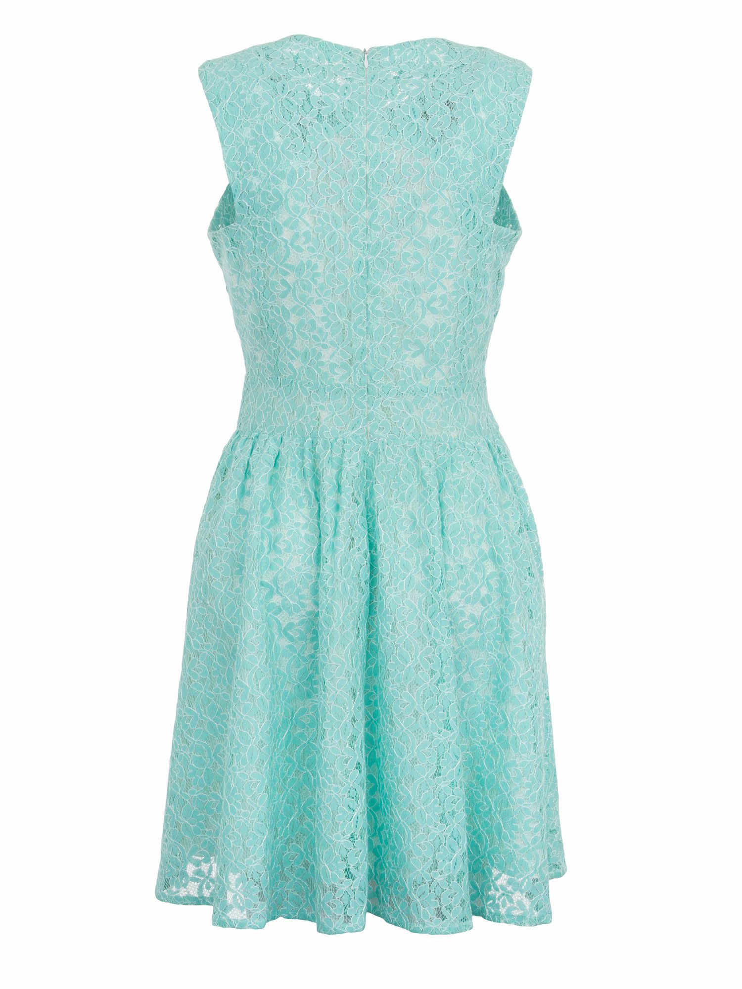 Peppermint chorded lace dress