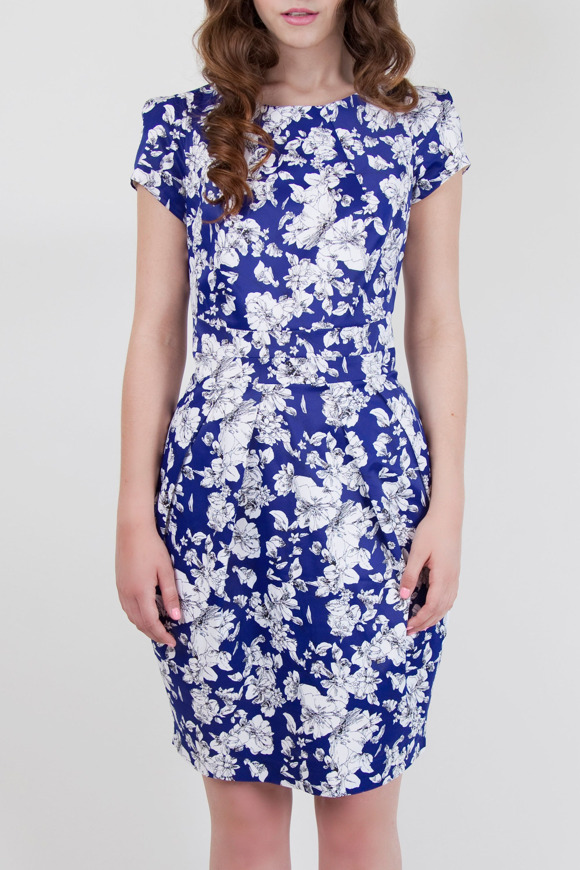 Drawn floral tailored dress