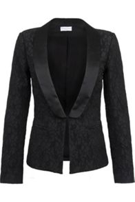 Leaf brocade blazer