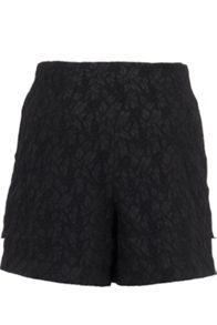 Leaf brocade shorts
